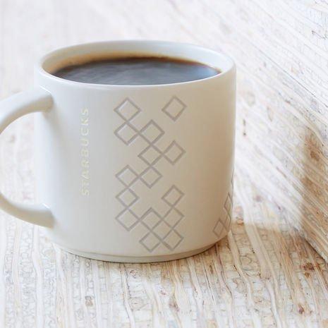 Starbucks Diamond Pattern Stacking Mug 14 Fl Oz
