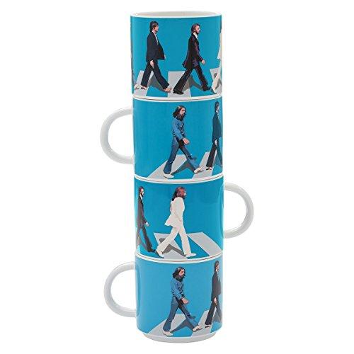 Vandor The Beatles Abbey Road 4 Piece Ceramic Stacking Mug Set 72006
