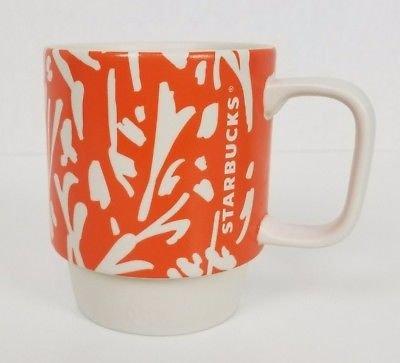Starbucks 12 oz Orange Stackable Mug