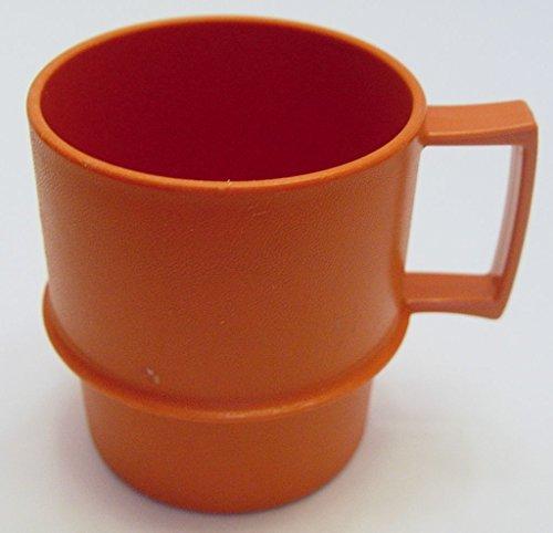 Vintage Harvest Orange Tupperware Stackable Coffee Cup Mug
