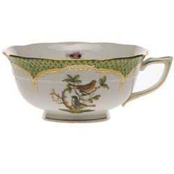 Herend Rothschild Bird Green Tea Cup Motif 3