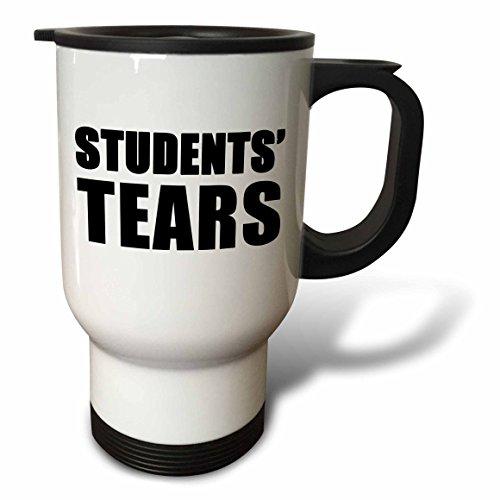 3dRose tm_223854_1 Students Tears Black Travel Mug 14 oz White