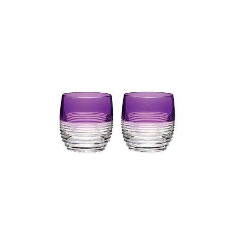 Waterford Crystal Mixology Circon Purple Tumbler Set of 2