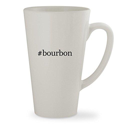 bourbon - 17oz Hashtag White Sturdy Ceramic Latte Cup Mug