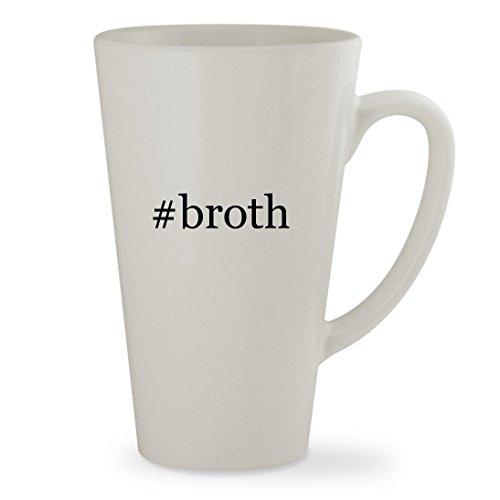 broth - 17oz Hashtag White Sturdy Ceramic Latte Cup Mug