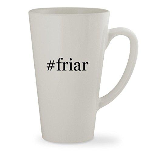 friar - 17oz Hashtag White Sturdy Ceramic Latte Cup Mug