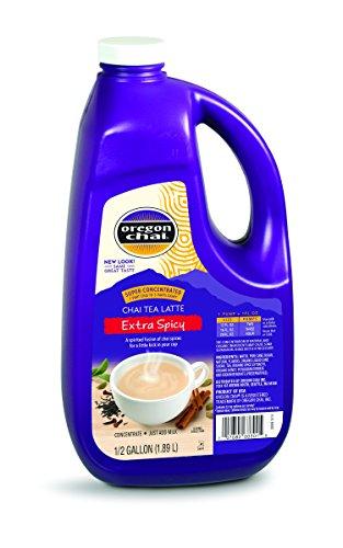 Oregon Chai Extra Spicy Original Chai Tea Latte Concentrate 64 Ounce Jug
