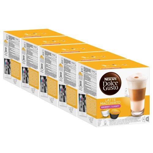 Nescafé Dolce Gusto Skinny Latte Macchiato Pack of 5 5 x 16 Capsules 40 Servings
