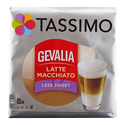 Tassimo Gevalia Latte Macchiato Less Sweet Coffee Discs 8 Drinks