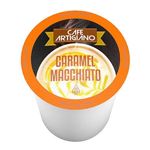 Café Artigiano Caramel Macchiato Single-Cup for Keurig K-Cup Brewers 40 Count