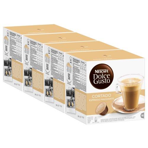 Nescafé Dolce Gusto Cortado Espresso Macchiato Pack of 4 4 x 16 Capsules