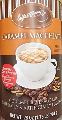 One - 28oz Caffe DAmore Caramel Macchiato Gourmet Instant Beverage Mix