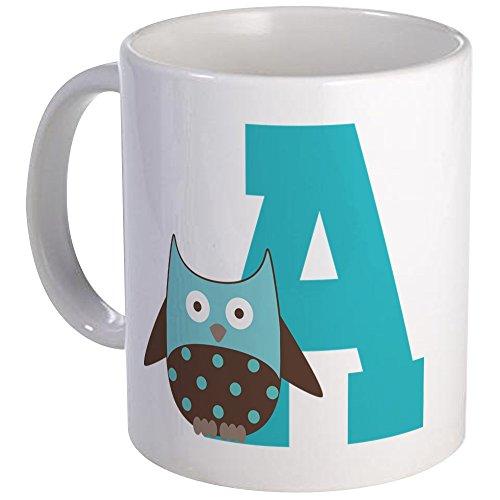CafePress - Letter A Owl Monogram Initial Mug - Unique Coffee Mug Coffee Cup