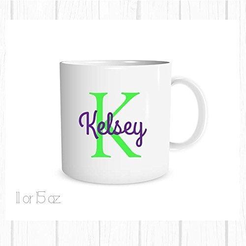 Personalized Name and Initial Mug Custom Coffee Cup Custom Mug Free Personalization