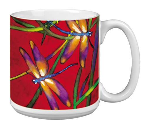 Dragonflies Extra Large Mug 20-Ounce Jumbo Ceramic Coffee Cup Deux Libuelles - Gift for Dragonfly and Nature Lovers XM29502 Tree-Free Greetings