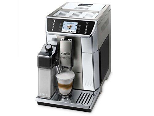 DeLonghi ECAM65055MS PrimaDonna Elitte Exclusive Italy Fully Automatic Espresso Coffee Machine with Auto Cappuccino Caffelatte Latte Macchiato Stainless Steel