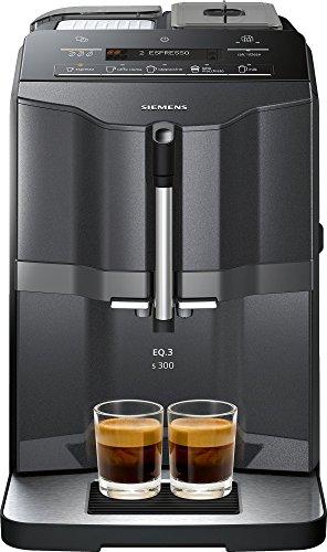 Siemens EQ3 s300 TI313219RW Super Fully Automatic Espresso Machine Coffee Capuccino Latte Maker OneTouch DoubleCup System Black
