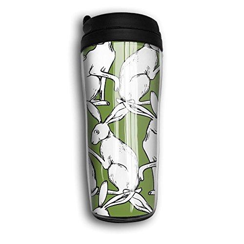 Unisex Sports Bunny Whisper Travel Coffee Mug Cup Curved Outer Layer Travel Tumbler Mug-350ml Patterned Travel Mug Works Great For Ice DrinkHot Beverage Carrier For Kids Men Women