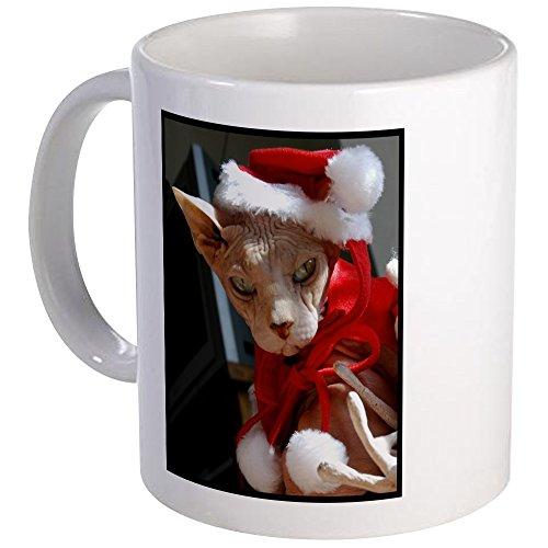CafePress - Sphynx Hairless Cat Santa Mug - Unique Coffee Mug Coffee Cup