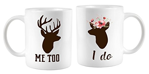 I Do Me Too Coffee Mug Set Wedding Mugs Hunting Wedding gift 11 oz ceramic mug set Mugsleys