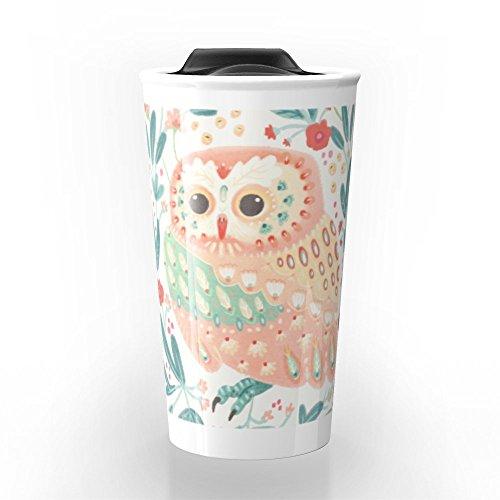 Society6 Little Pink Owl Travel Mug 12 oz