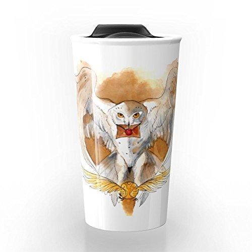 Society6 Potter Hedwig Owl Travel Mug 12 oz