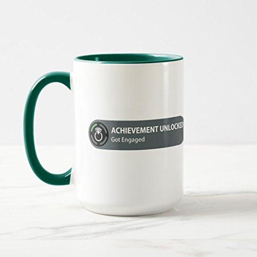 Zazzle Achievement Unlocked - Got Engaged Coffee Mug Hunter Green Combo Mug 15 oz