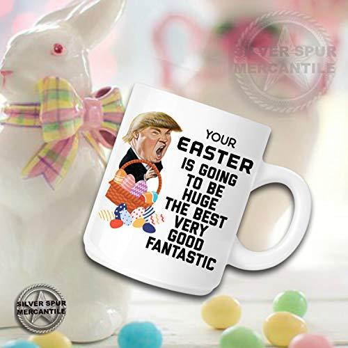 Trump Easter Coffee Mug Gift for Men Mug for Women Trump Gag Gifts Love Trump Political Mug Funny MAGA Trump Mugs