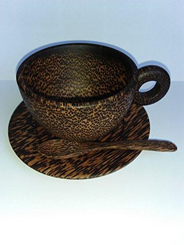 Natural premium Gift  Sugar palm wooden Coffee mug By Yam Yim Farm