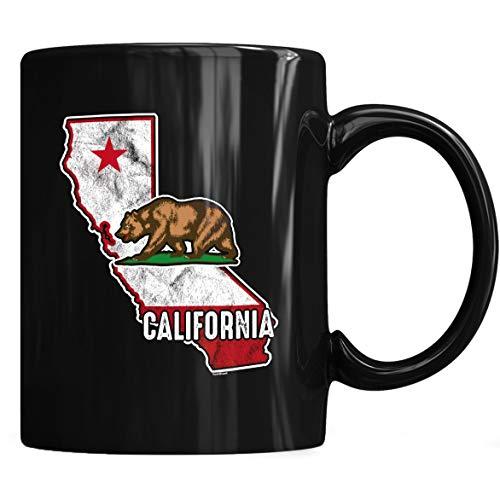California State Map Mug - California Coffee Mug 11oz Gift Black Tea Cups