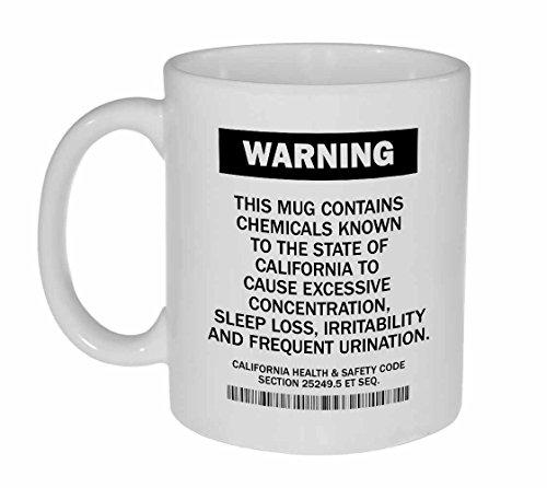 California Warning Funny Coffee or Tea Mug