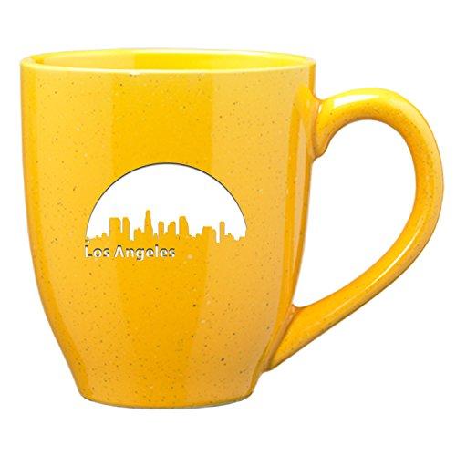 LXG Inc Los Angeles California-16 oz Ceramic Coffee Mug-Gold