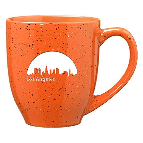 LXG Inc Los Angeles California-16 oz Ceramic Coffee Mug-Orange