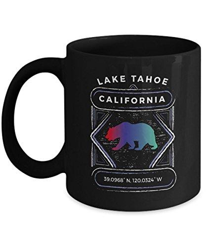 Lake Tahoe California Coffee Mug - 11oz Black Ceramic Tea Cup