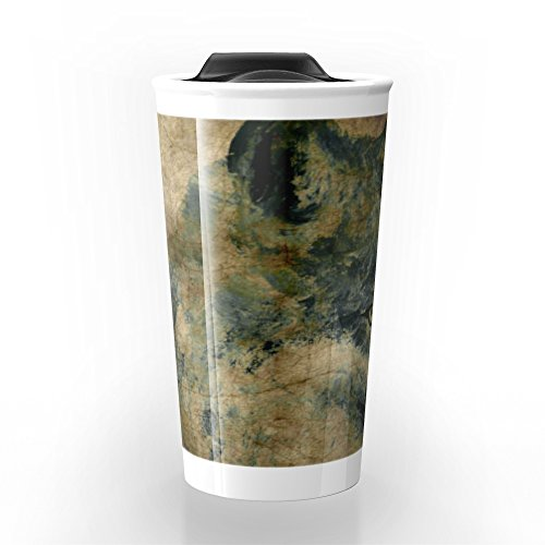Society6 Wolf Travel Mug 12 oz