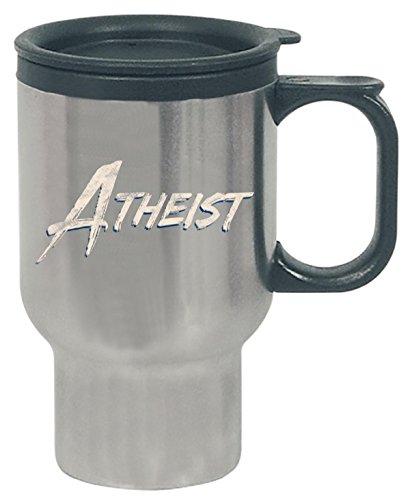 Atheist Vintage Logo - Travel Mug