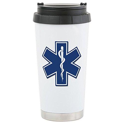 CafePress - EMS EMT Rescue Logo Travel Mug - Stainless Steel Travel Mug Insulated 16 oz Coffee Tumbler