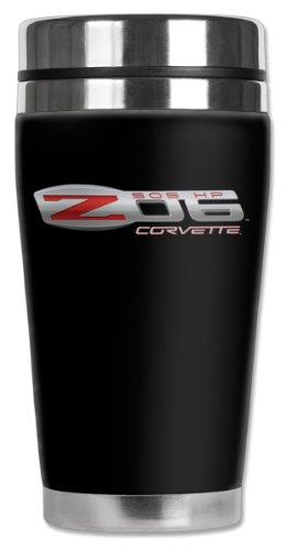 Mugzie Corvette Z06 Logo Travel Mug with Insulated Wetsuit Cover 16 oz Black