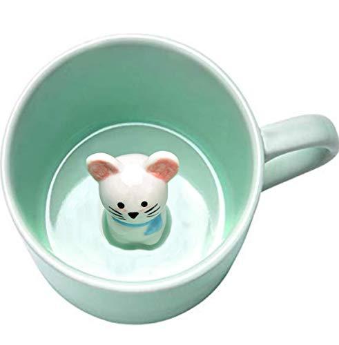 Baby Mouse - 3D Cartoon Animal Inside Cute Ceramic Mug Funny Coffee Mugs - 8 OZ