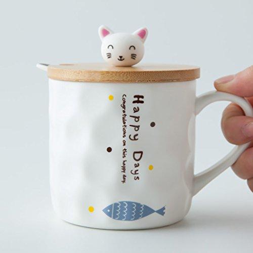 Cute Ceramic Mugs Creative Couple Cup Breakfast Milk Coffee Cup  Color  C