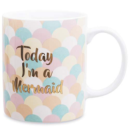 Cute Mugs for Women Cute Mermaid Coffee Mug Gift Ceramic Teacups 12oz
