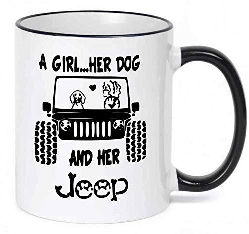 Jeep Girl Coffee Tea Drink Funny Cute Ceramic Mug Cup 11OZ Gift Christmas Mug Gift Coffee Mug 11OZ Coffee Mug