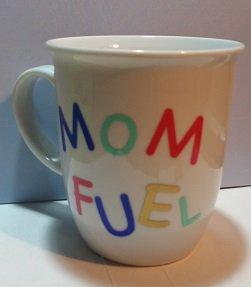 Coffee Mug for Mom - 14 oz Coffee Mug with Message Mom Fuel
