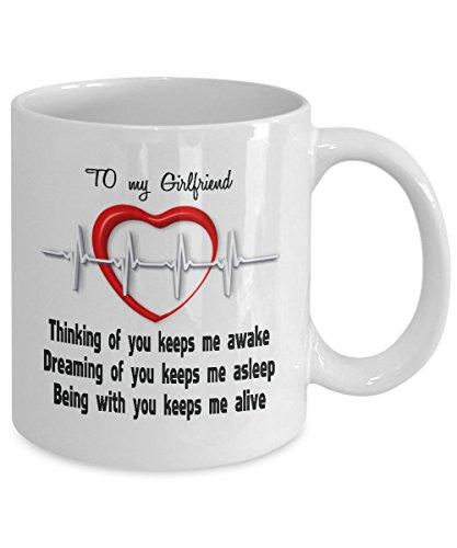 Love Anniversary Birthday Coffee Mug For Girlfriend Message Quote Loving Boyfriend Gift For Women