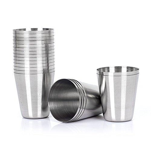20pcs 30ml 1 Ounce Stainless Steel Shot Glasses Set of 20