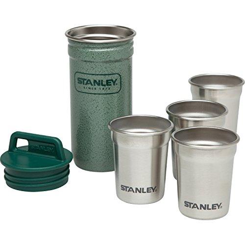 Stanley Adventure Stainless Steel Shot Glass Set Hammertone Green