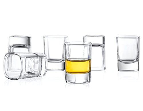 JoyJolt 6-Pack Heavy Base Shot Glass Set 2-Ounce Shot Glasses