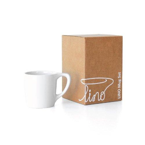 notNeutral 01501750R Lino Coffee Mug Gift Set of 2 White