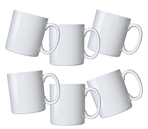 Oxford Biona Mugs Set of 6 Pure White