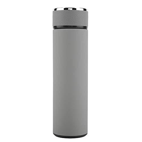 Vacuum Bottle Vacuum Water Bottle Stainless Steel Insulated Mug Tea Coffee Leakpoof Car Office Travel Light Grey